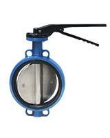 Wafer type butterfly valve – cast iron body – ductile iron disc – lever operator