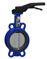 Wafer type butterfly valve – ductile iron body – stainless steel disc – lever operator
