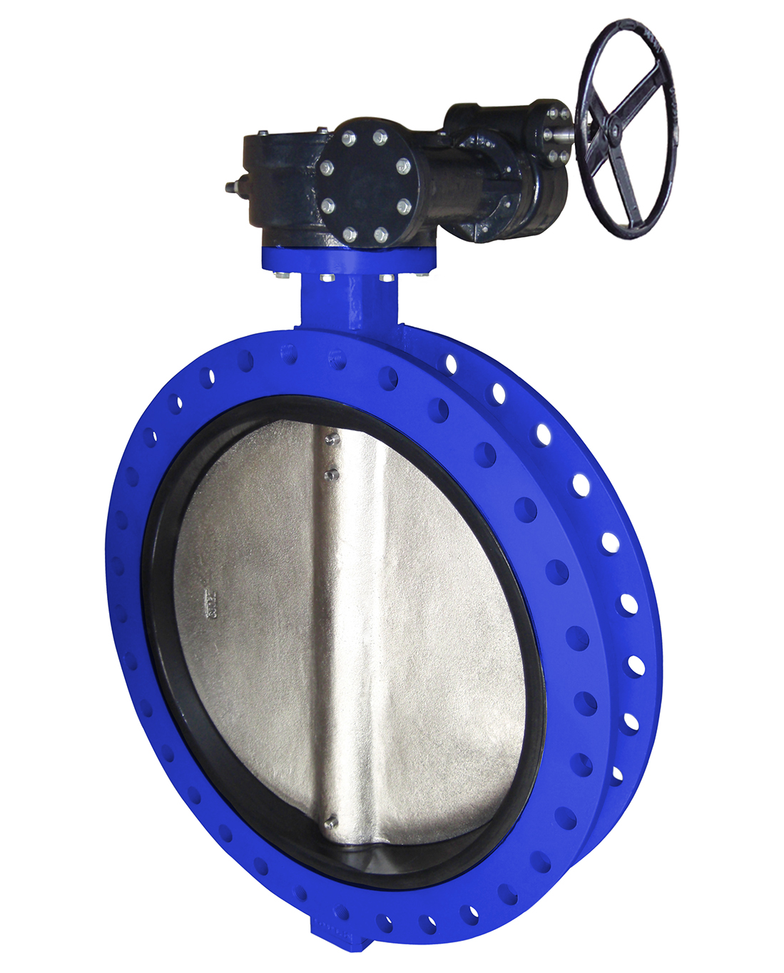 Double flanges type butterfly valve PN10 – ductile iron body – ductile iron disc – gearbox operator