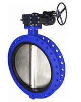 Double flanges type butterfly valve PN10 – ductile iron body – stainless steel disc – gearbox operator