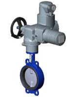 Межфланцевый дисковый поворотный затвор – корпус из чугуна – диск из сплава алюминия с бронзой – с электроприводом AUMA