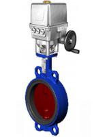 Межфланцевый дисковый поворотный затвор – корпус и диск из ковкого чугуна  – с электроприводом Auma