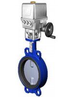 Межфланцевый дисковый поворотный затвор – корпус ковкий чугун – диск из нержавеющей стали 316 – с электроприводом Auma