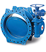 Tecwat – Double eccentric type butterfly valve with flanges