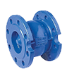 Axial check valves