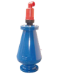 Air release valves for waste water