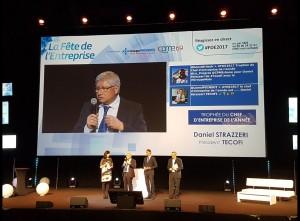 Tecofi reçoit le prix de «Chef d'entreprise de l'année»