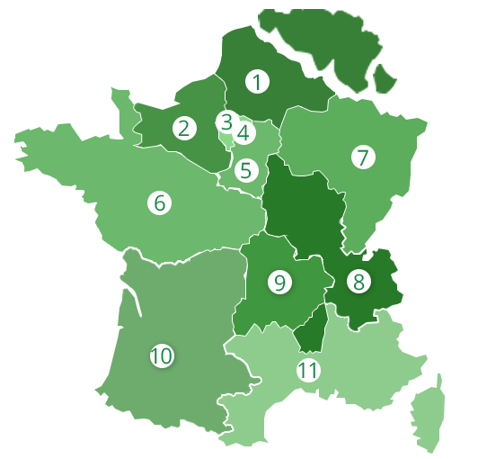 Réseau commercial en France